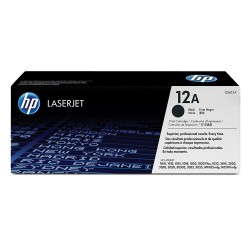 HP 12A Original LaserJet Toner Cartridge, Black (Q2612A)